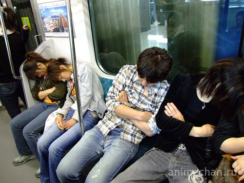 Спящие японцы