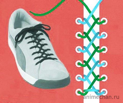 Шнуруем кроссовки по-японски