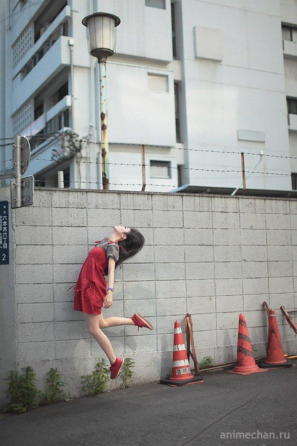 """""""Парящие"""" фотопортреты прекрасной девушки Hayashi Natsumi"""