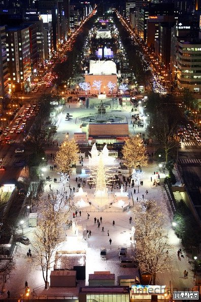 Снежные фестивали на японском острове Хоккайдо