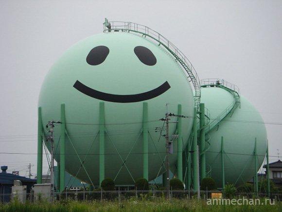 Кавайные газовые контейнеры в Японии