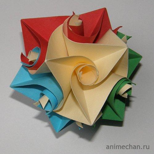 """Оригами. Кусудама """"Curler"""""""
