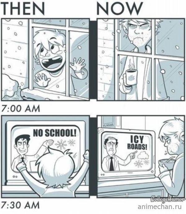 Как было в детстве, и как стало во взрослой жизни