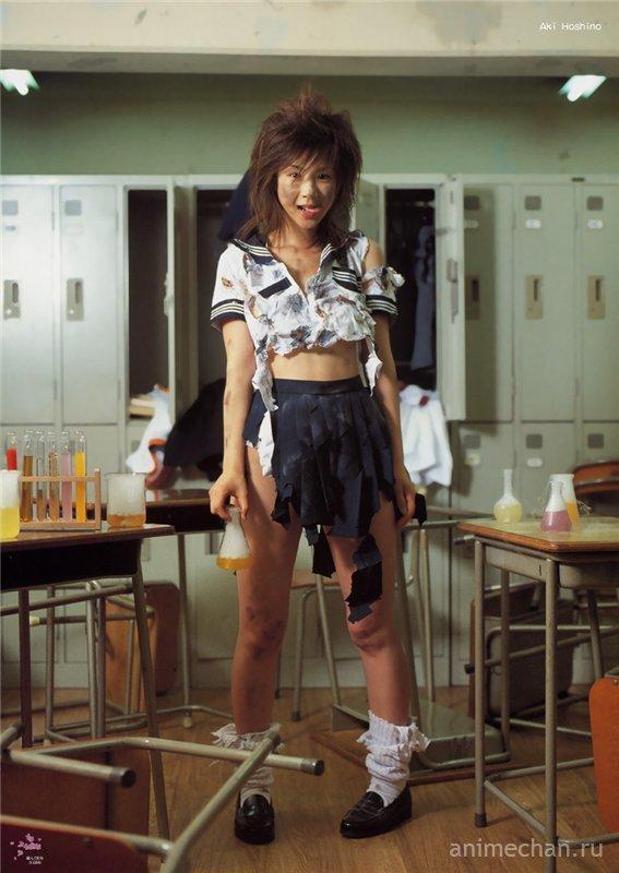 Оно взорвалося... или японская школьница на уроке химии
