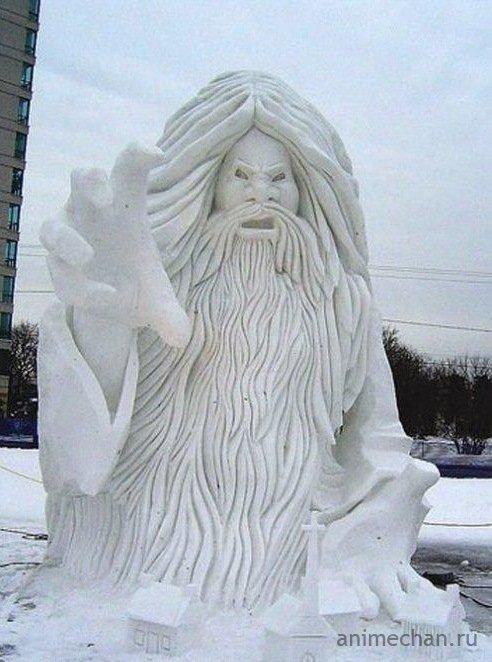 Скульптуры изо льда