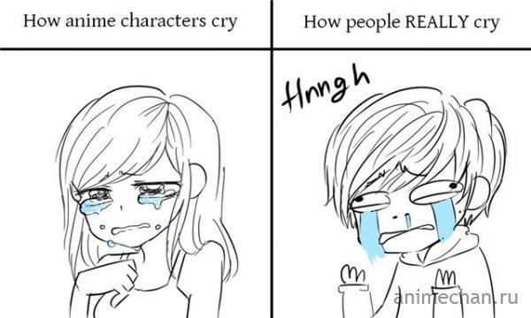 Как плачут люди в аниме и в реальности