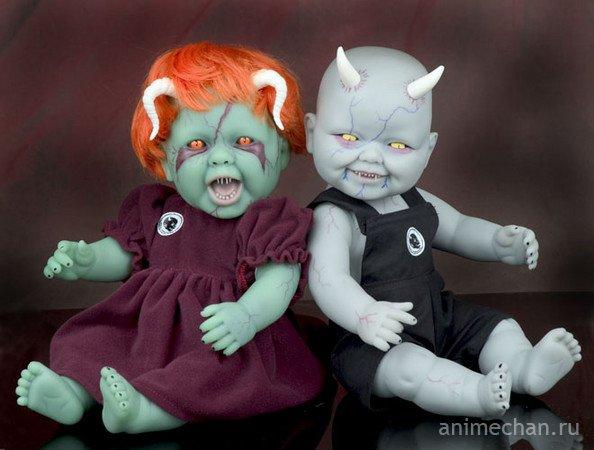 Страшные японские куклы....