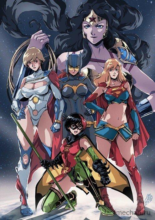 Супергероини в правильной рисовке