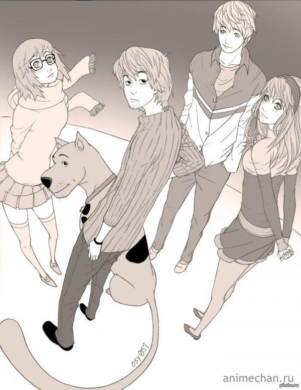 СкубиДу анимешная рисовка