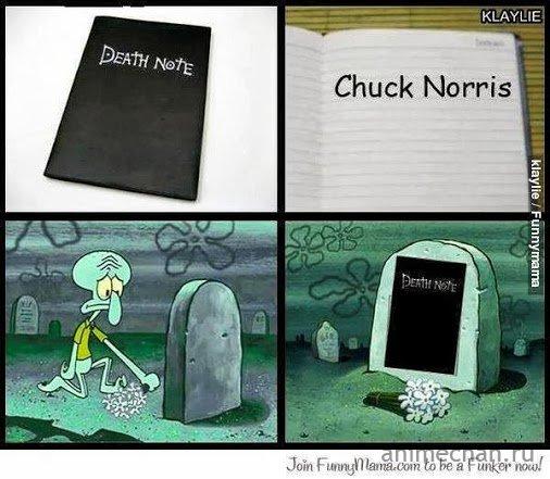 Death note vs Чак