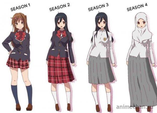 Эволюция персонажа в сериале от KyoAni