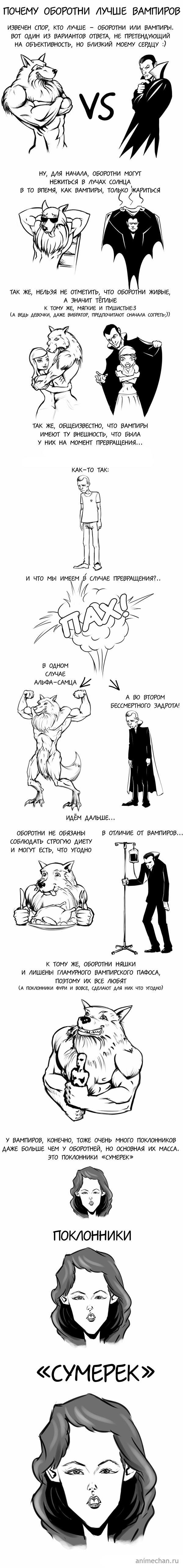 Оборотни лучше чем вампиры