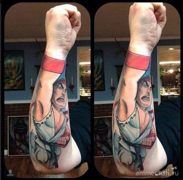 Татуировки в стиле Street fighter