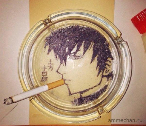 Рисунки из сигаретного пепла