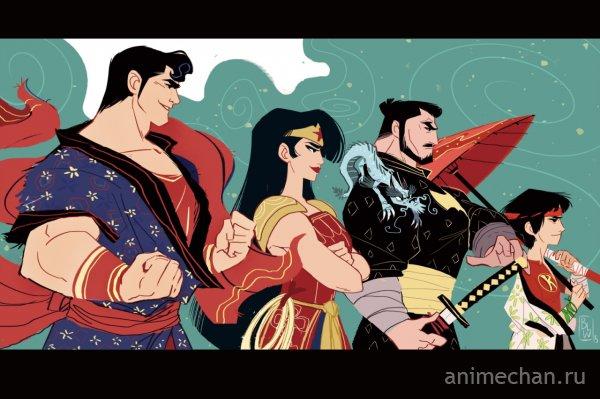 Старые герои в новом стиле.
