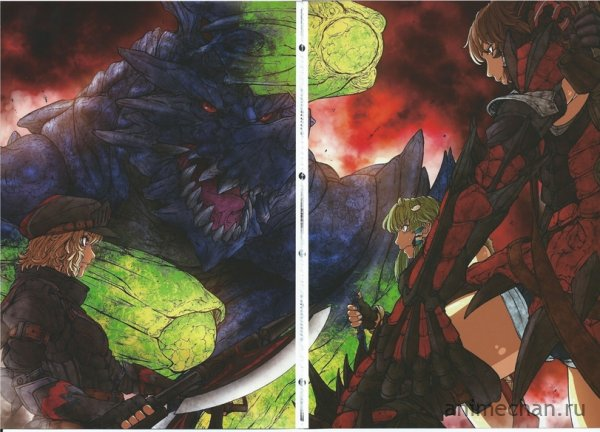 Артбук-кроссовер Monster Hunter и Touhou
