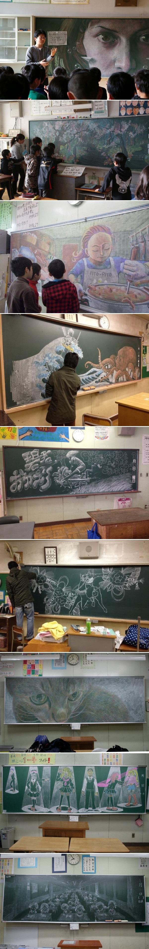 Когда в классе художник