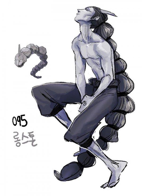 Южнокорейский художник, скрывающийся под псевдонимом Tamtamdi, в настоящее время проживающий в США, изображает покемонов в образе людей. Часть 2
