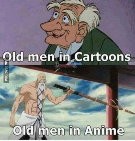 Пожилые в мультиках - пожилые в аниме