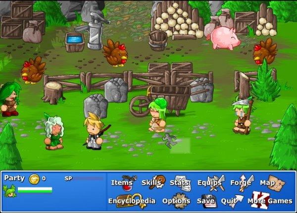 Epic Battle Fantasy 1-4.