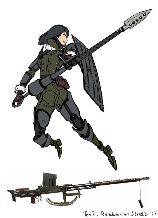 Катана-тян и пушка-тян