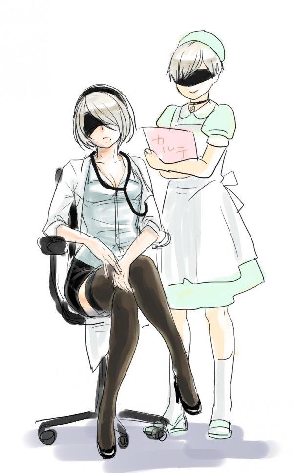У доктора.