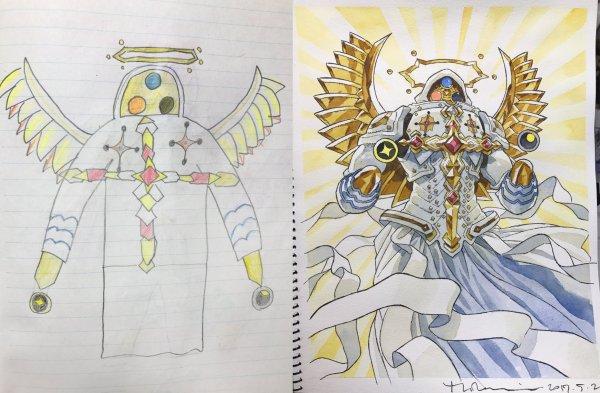Перерисовка рисунков детей. Часть 2