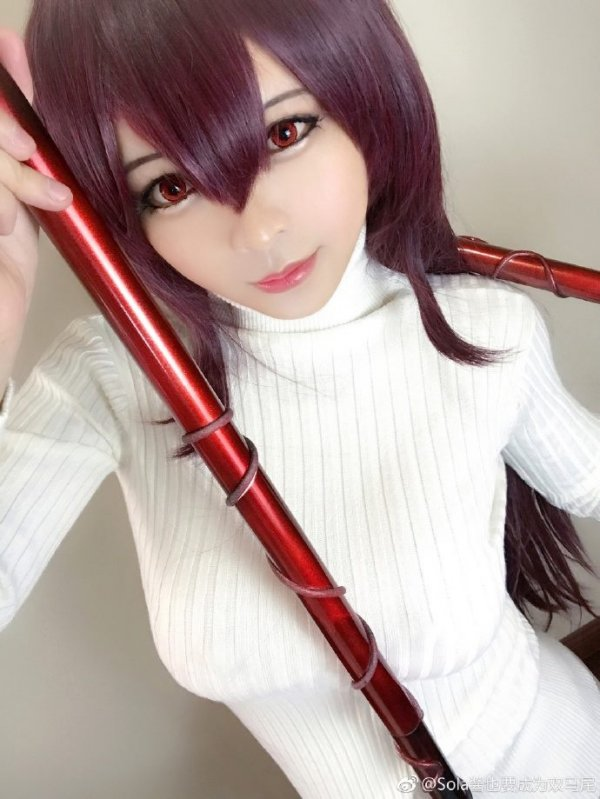 Scathach cosplay by Sola酱也要成为双马尾