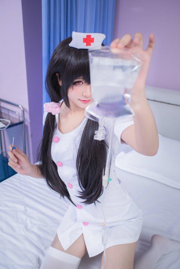 Tokisaki Kurumi Nurse Cosplay by 西米桑OwO_