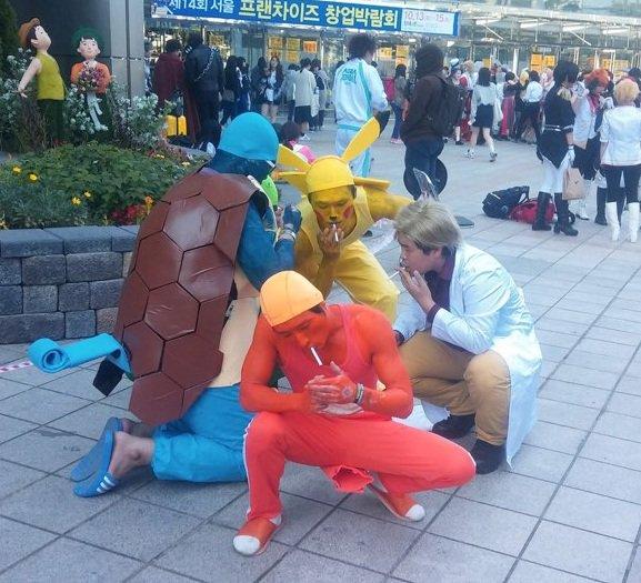 Покемоны на перекуре