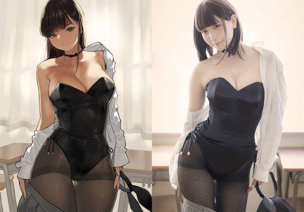 2D vs 3D: Yum tights sepia
