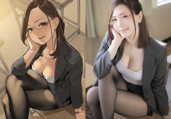 2D vs 3D: Yum tights sepia