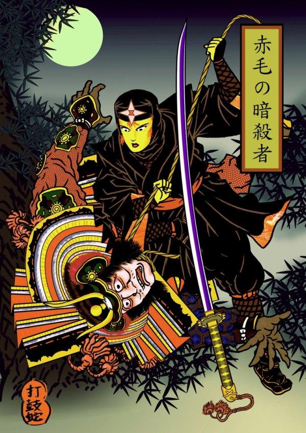 Герои Marvel в стиле японского изобразительного искусства