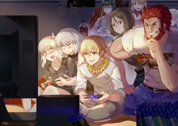 Короли за игрой в PlayStation