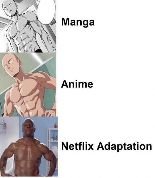 Если бы Netflix решила бы сделать адаптацию onepunch-man