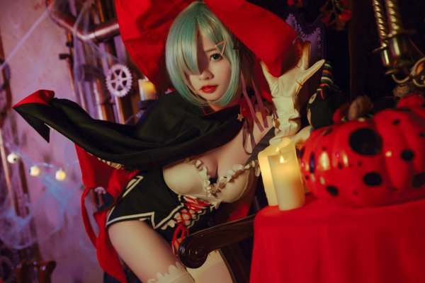 Halloween Rem Cosplay