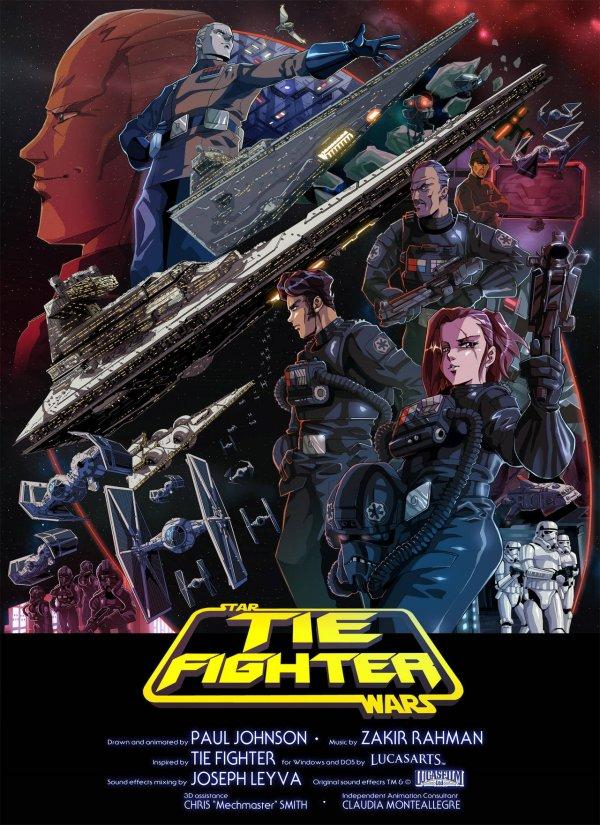 Звездные Войны в стиле аниме 80х