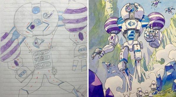 Перерисовка детских рисунков (часть 3)
