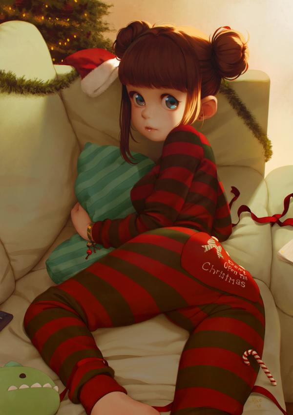 До рождества не открывать - Надпись