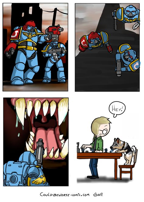 "Space marines vs ""Monster"""