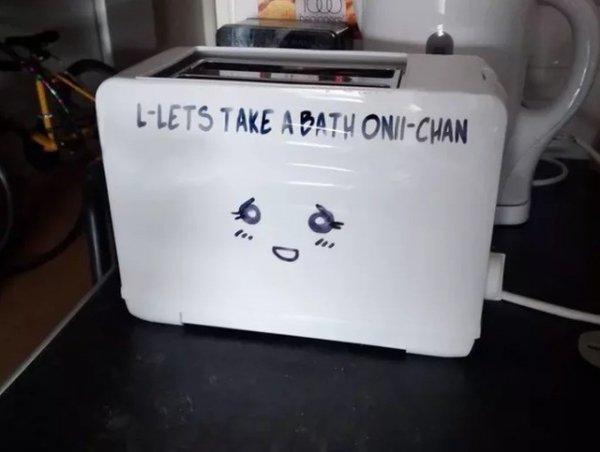 Ванна с тостером-тян