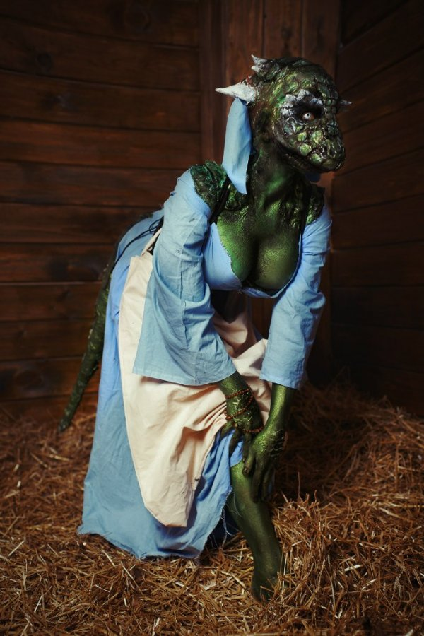 Lusty Argonian Maid by Elena Samko