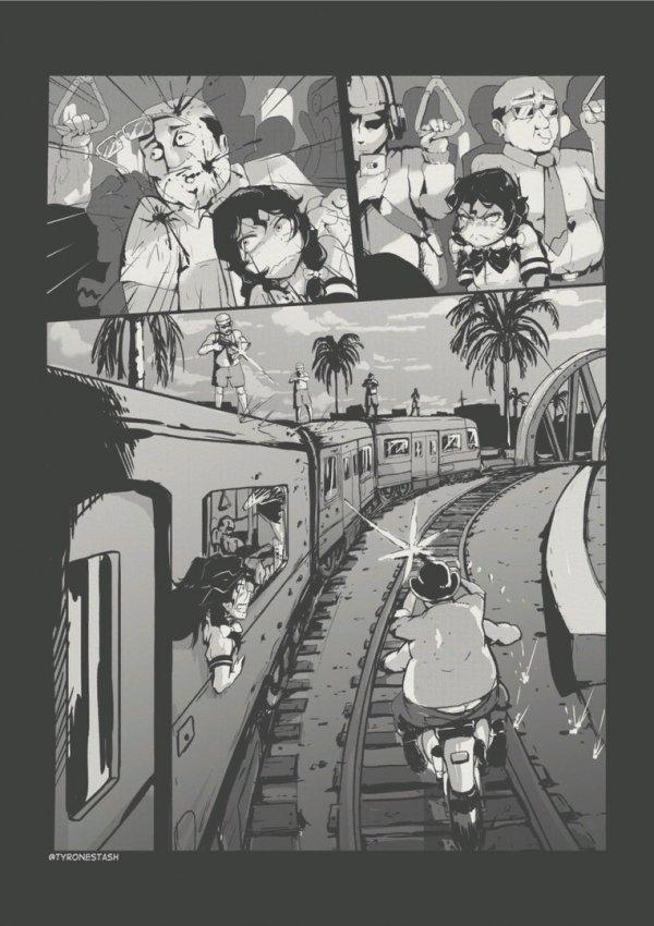 Тем временем что происходило в поезде