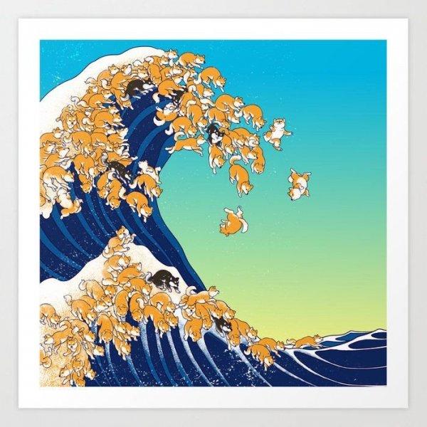 В Японии всё строится на сибах — даже волны из них