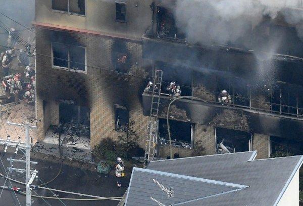 Пожар в студии Kyoto Animation
