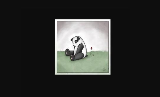 Грустная панда жива!