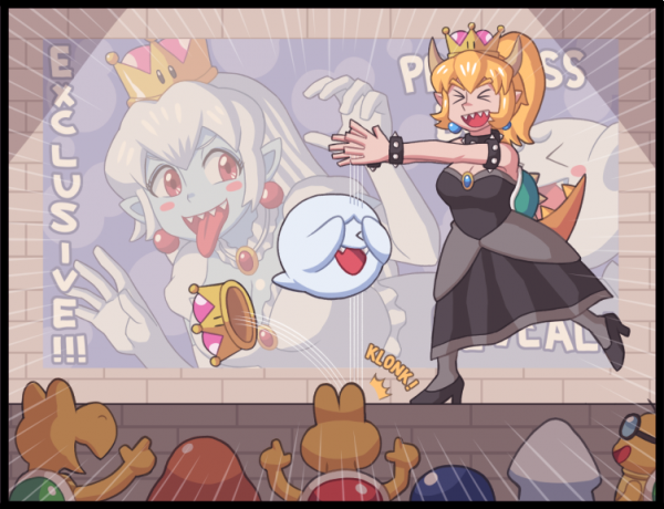 Princess King Boo transformation