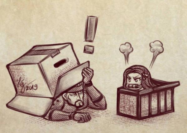 В коробочке