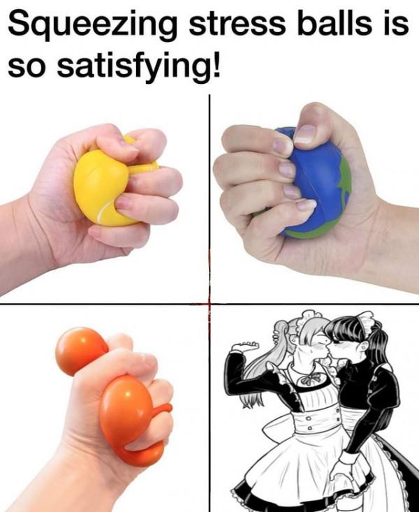 Сжимать антистрессовые шарики так приятно!!!