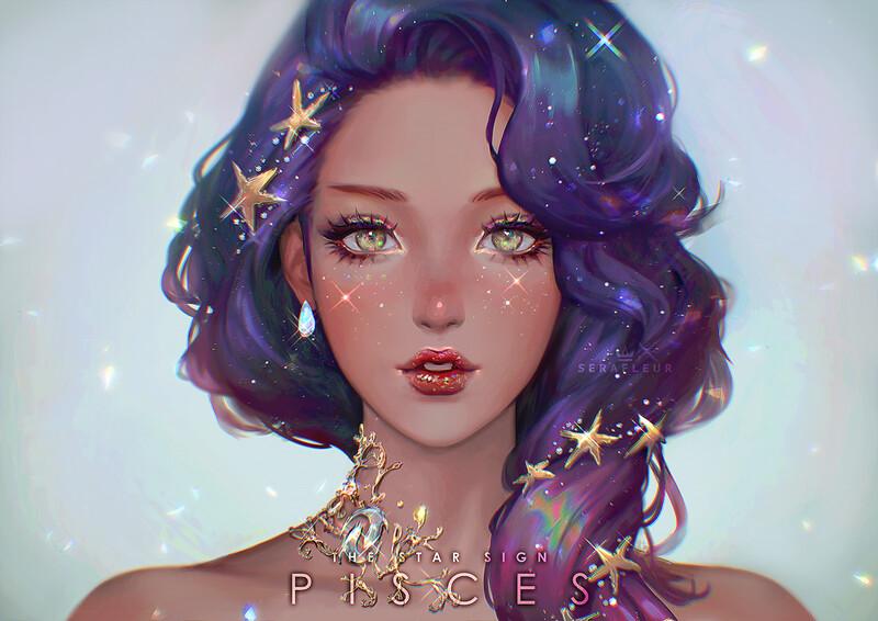 Яркие, сверкающие арты от автора Abigail Diaz